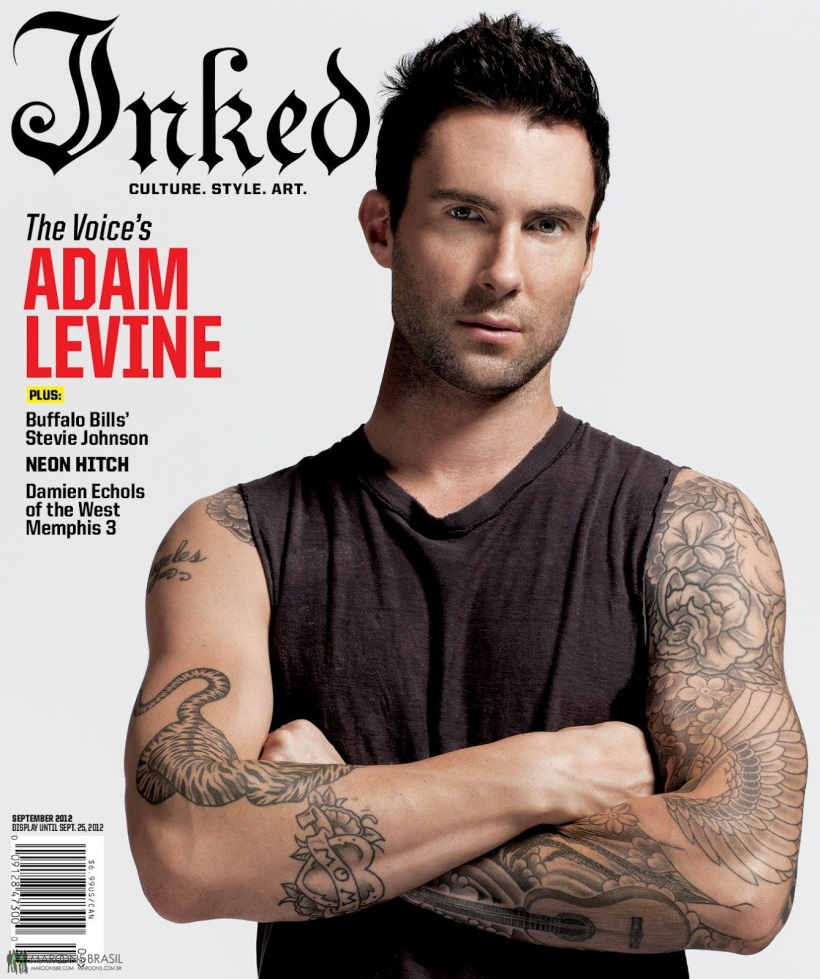 Adam Levine on Inked Magazine 1
